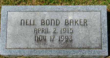 BAKER, NELL BOND - Baltimore County, Maryland   NELL BOND BAKER - Maryland Gravestone Photos