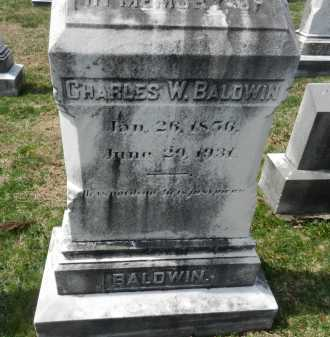 BALDWIN, CHARLES W. - Baltimore County, Maryland | CHARLES W. BALDWIN - Maryland Gravestone Photos