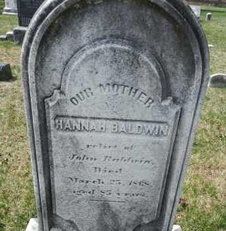 BALDWIN, HANNAH - Baltimore County, Maryland | HANNAH BALDWIN - Maryland Gravestone Photos