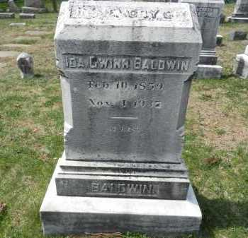 BALDWIN, IDA GWINN - Baltimore County, Maryland | IDA GWINN BALDWIN - Maryland Gravestone Photos