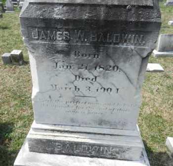 BALDWIN, JAMES W. - Baltimore County, Maryland   JAMES W. BALDWIN - Maryland Gravestone Photos