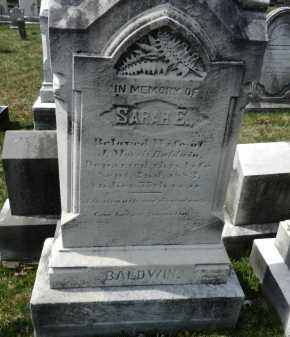 BALDWIN, SARAH E. - Baltimore County, Maryland   SARAH E. BALDWIN - Maryland Gravestone Photos
