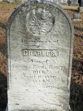 BARRETT, CHARLES - Baltimore County, Maryland | CHARLES BARRETT - Maryland Gravestone Photos