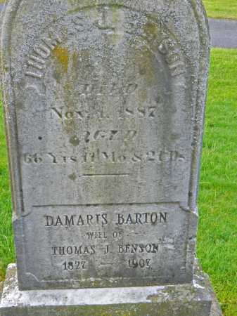 BENSON, DAMARIS - Baltimore County, Maryland   DAMARIS BENSON - Maryland Gravestone Photos