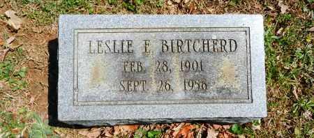 BIRTCHERD, LESLIE E. - Baltimore County, Maryland | LESLIE E. BIRTCHERD - Maryland Gravestone Photos