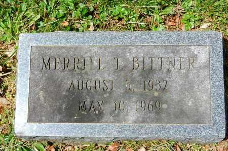 T. BITTNER, MERRILL - Baltimore County, Maryland   MERRILL T. BITTNER - Maryland Gravestone Photos
