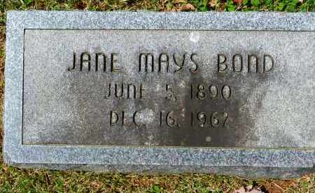MAYS BOND, JANE - Baltimore County, Maryland | JANE MAYS BOND - Maryland Gravestone Photos