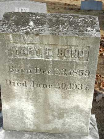 BOND, MARY F - Baltimore County, Maryland | MARY F BOND - Maryland Gravestone Photos