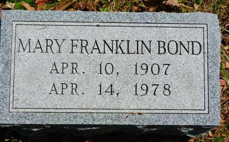 FRANKLIN BOND, MARY - Baltimore County, Maryland | MARY FRANKLIN BOND - Maryland Gravestone Photos