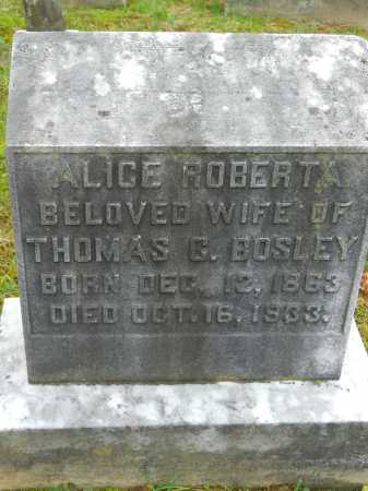 BOSLEY, ALICE ROBERTA - Baltimore County, Maryland | ALICE ROBERTA BOSLEY - Maryland Gravestone Photos