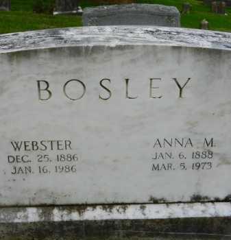 BOSLEY, ANNA M. - Baltimore County, Maryland | ANNA M. BOSLEY - Maryland Gravestone Photos
