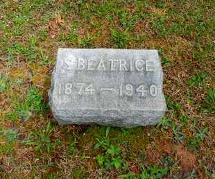 BOSLEY, S. BEATRICE - Baltimore County, Maryland   S. BEATRICE BOSLEY - Maryland Gravestone Photos