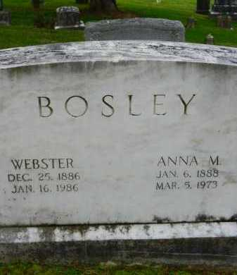 BOSLEY, WEBSTER - Baltimore County, Maryland | WEBSTER BOSLEY - Maryland Gravestone Photos