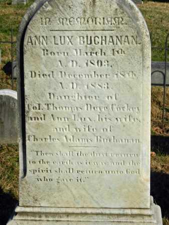 BUCHANAN, ANN LUX - Baltimore County, Maryland | ANN LUX BUCHANAN - Maryland Gravestone Photos