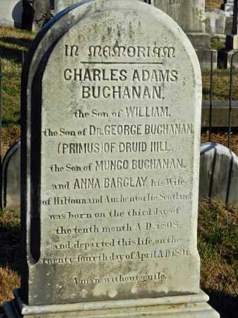 BUCHANAN, CHARLES ADAMS - Baltimore County, Maryland   CHARLES ADAMS BUCHANAN - Maryland Gravestone Photos