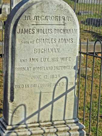 BUCHANAN, JAMES HOLLIS - Baltimore County, Maryland | JAMES HOLLIS BUCHANAN - Maryland Gravestone Photos