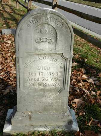 CANOLES, CHAS A - Baltimore County, Maryland | CHAS A CANOLES - Maryland Gravestone Photos