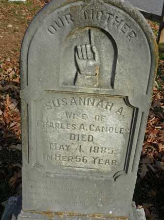 CANOLES, SUSANNAH A - Baltimore County, Maryland | SUSANNAH A CANOLES - Maryland Gravestone Photos