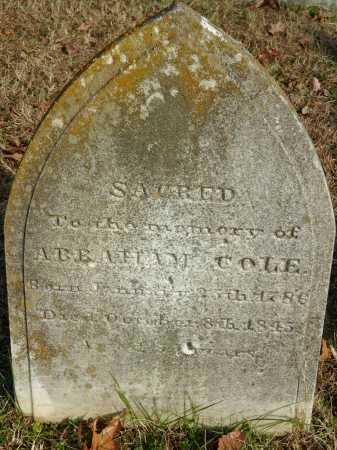 COLE, ABRAHAM - Baltimore County, Maryland | ABRAHAM COLE - Maryland Gravestone Photos