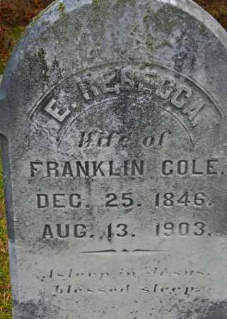 COLE, E. REBECCA - Baltimore County, Maryland | E. REBECCA COLE - Maryland Gravestone Photos