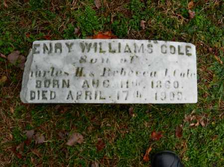 COLE, HENRY WILLIAMS - Baltimore County, Maryland | HENRY WILLIAMS COLE - Maryland Gravestone Photos