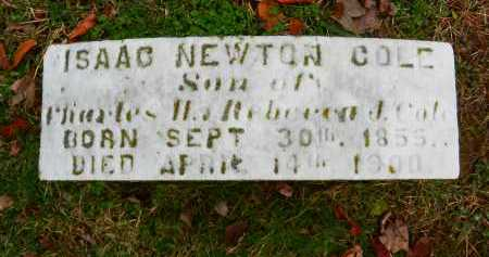COLE, ISAAC NEWTON - Baltimore County, Maryland | ISAAC NEWTON COLE - Maryland Gravestone Photos