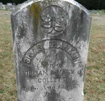 COLLETT, SILAS FRANKLIN - Baltimore County, Maryland | SILAS FRANKLIN COLLETT - Maryland Gravestone Photos