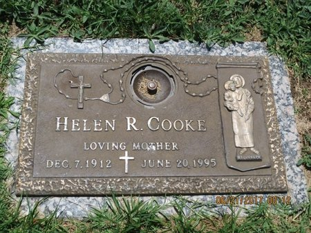 COOKE, HELEN R - Baltimore County, Maryland   HELEN R COOKE - Maryland Gravestone Photos