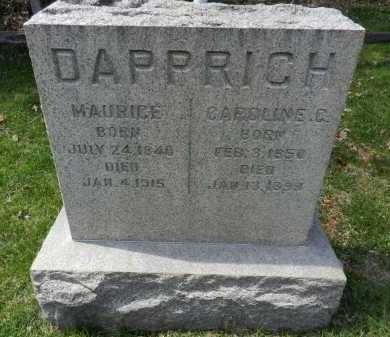 DAPPRICH, MAURICE - Baltimore County, Maryland | MAURICE DAPPRICH - Maryland Gravestone Photos