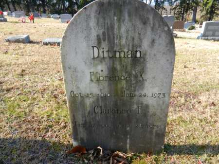 DITMAN, FLORENCE K - Baltimore County, Maryland | FLORENCE K DITMAN - Maryland Gravestone Photos