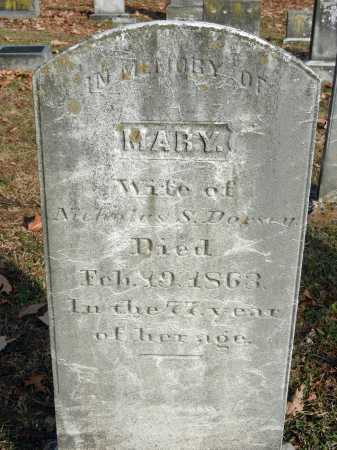 DORSEY, MARY - Baltimore County, Maryland | MARY DORSEY - Maryland Gravestone Photos