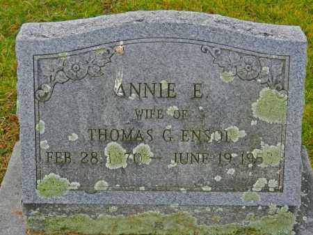 ENSOR, ANNIE E. - Baltimore County, Maryland | ANNIE E. ENSOR - Maryland Gravestone Photos