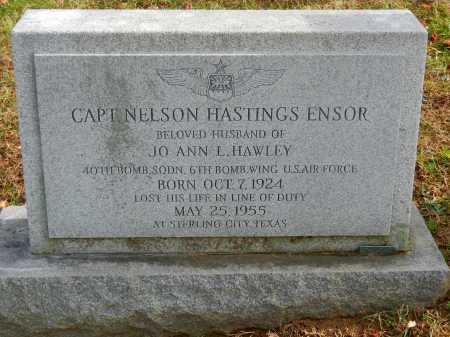 ENSOR, CAPT. NELSON HASTINGS - Baltimore County, Maryland | CAPT. NELSON HASTINGS ENSOR - Maryland Gravestone Photos