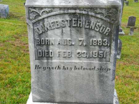 ENSOR, D. WEBSTER - Baltimore County, Maryland | D. WEBSTER ENSOR - Maryland Gravestone Photos