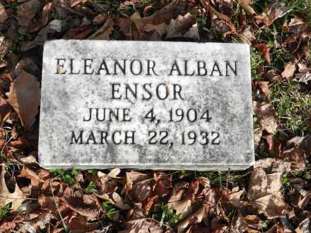 ENSOR, ELEANOR ALBAN - Baltimore County, Maryland   ELEANOR ALBAN ENSOR - Maryland Gravestone Photos