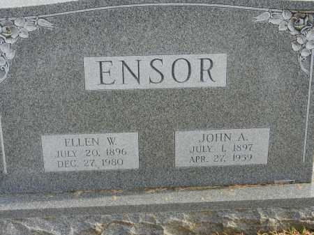 ENSOR, ELLEN W. - Baltimore County, Maryland | ELLEN W. ENSOR - Maryland Gravestone Photos