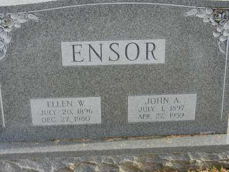 ENSOR, JOHN A. - Baltimore County, Maryland | JOHN A. ENSOR - Maryland Gravestone Photos