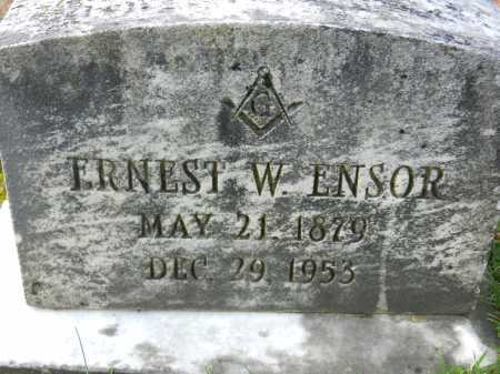 ENSOR, ERNEST W. - Baltimore County, Maryland | ERNEST W. ENSOR - Maryland Gravestone Photos