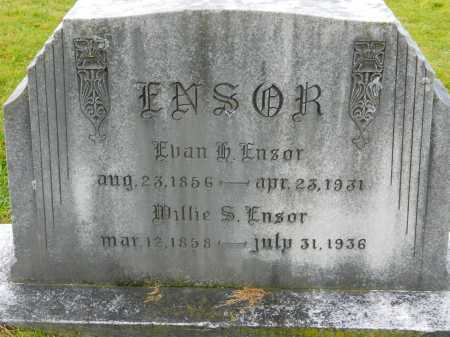 ENSOR, WILLIE S. - Baltimore County, Maryland | WILLIE S. ENSOR - Maryland Gravestone Photos