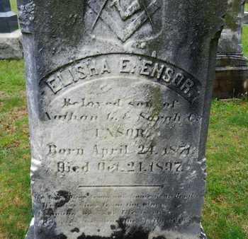 ENSOR, ELISHA E. - Baltimore County, Maryland | ELISHA E. ENSOR - Maryland Gravestone Photos