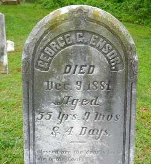 ENSOR, GEORGE G. - Baltimore County, Maryland | GEORGE G. ENSOR - Maryland Gravestone Photos