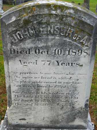 ENSOR, JOHN - Baltimore County, Maryland | JOHN ENSOR - Maryland Gravestone Photos