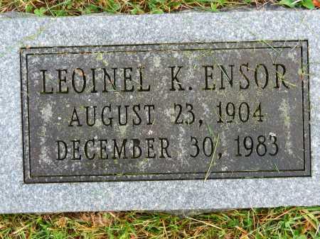 ENSOR, LEOINEL K. - Baltimore County, Maryland   LEOINEL K. ENSOR - Maryland Gravestone Photos