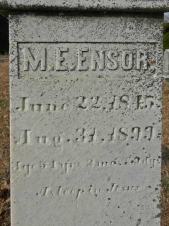ENSOR, M. E. - Baltimore County, Maryland | M. E. ENSOR - Maryland Gravestone Photos
