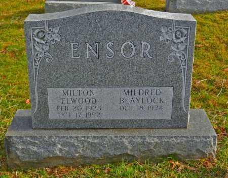 ENSOR, MILTON ELWOOD - Baltimore County, Maryland | MILTON ELWOOD ENSOR - Maryland Gravestone Photos