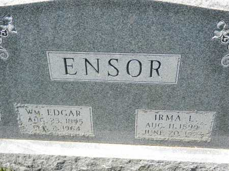 ENSOR, WM. EDGAR - Baltimore County, Maryland | WM. EDGAR ENSOR - Maryland Gravestone Photos