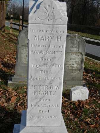 FRANTZ, MARY H - Baltimore County, Maryland | MARY H FRANTZ - Maryland Gravestone Photos