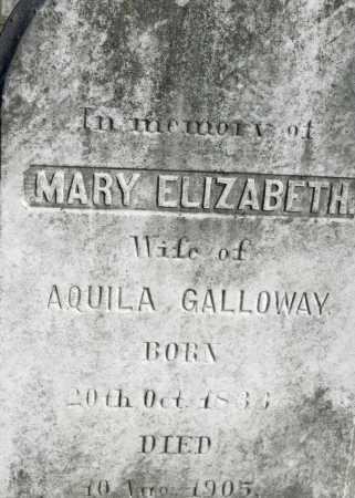 GALLOWAY, MARY ELIZABETH - Baltimore County, Maryland | MARY ELIZABETH GALLOWAY - Maryland Gravestone Photos