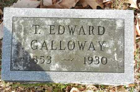 GALLOWAY, T EDWARD - Baltimore County, Maryland | T EDWARD GALLOWAY - Maryland Gravestone Photos