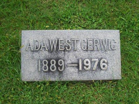 GERWIG, ADA WEST - Baltimore County, Maryland | ADA WEST GERWIG - Maryland Gravestone Photos